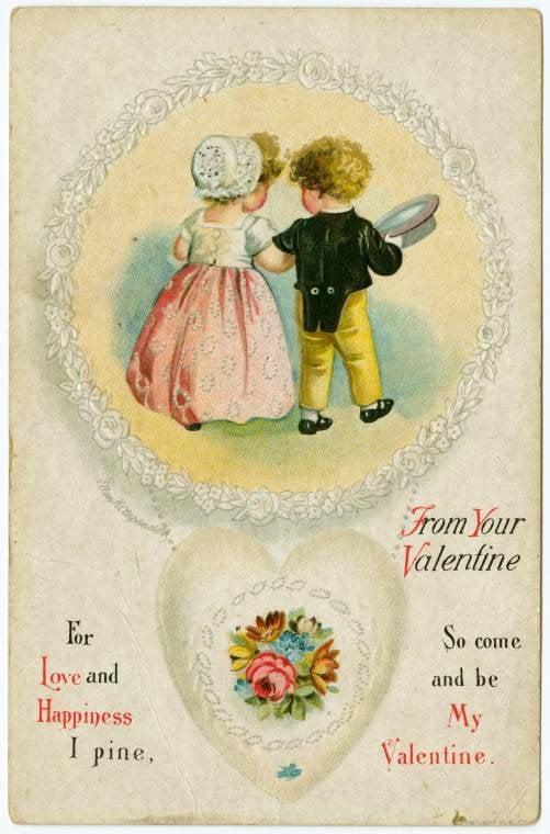 Vintage Valentine's Day cards from around 1900 (5)