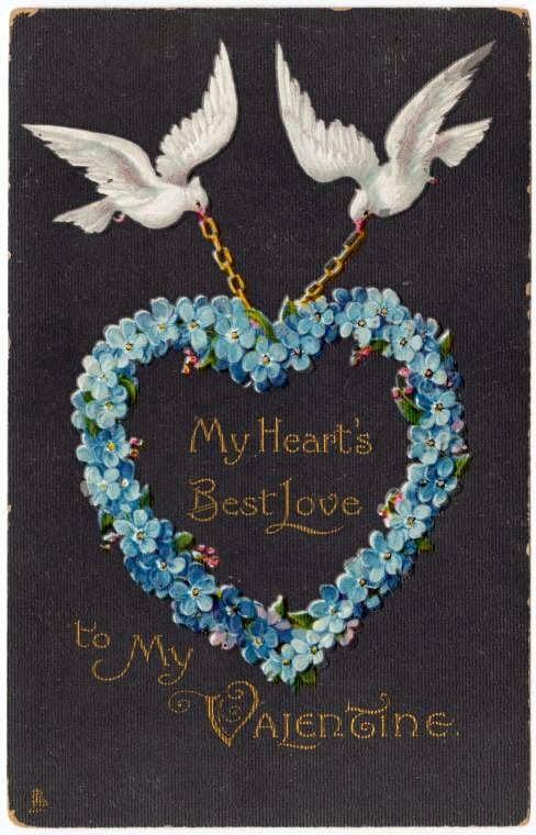 Vintage Valentine's Day cards from around 1900 (8)