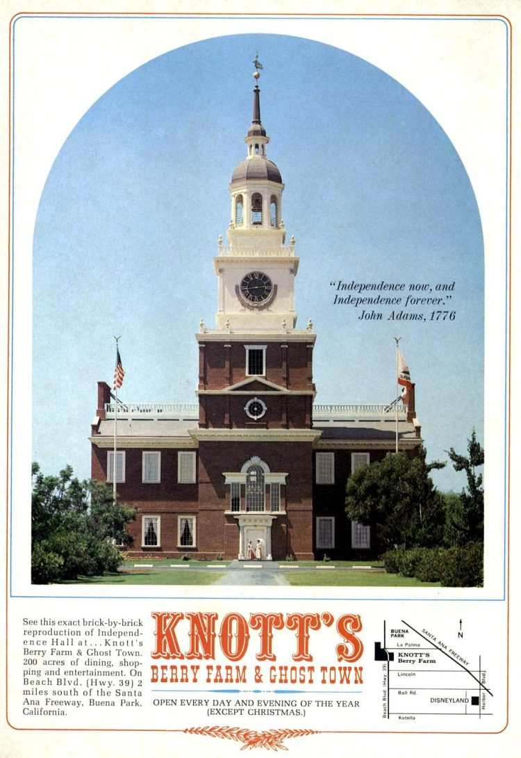 Vintage Vintage Knott's Berry Farm and Ghost Town - 1967