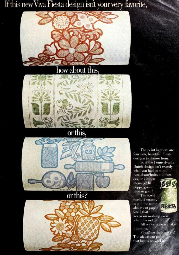 Vintage Viva Fiesta paper towels (1973)