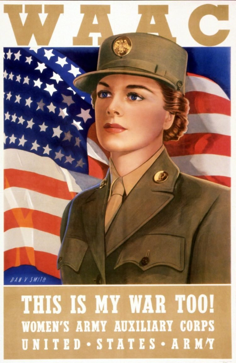 Vintage WAC poster WWII - This is my war too
