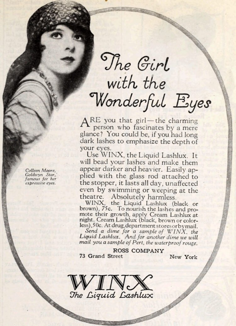 Vintage WInx eye makeup - Mascara from 1923