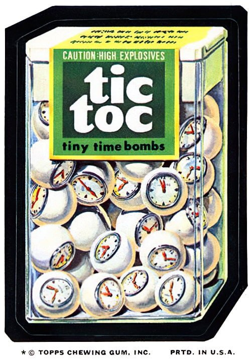 Vintage Wacky Packages Tic Tocs