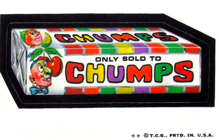 Vintage Wacky Packs Chumps candy (1973)