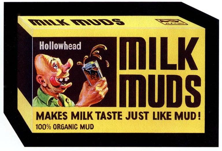 Vintage Wacky Packs Milk Muds (1974)