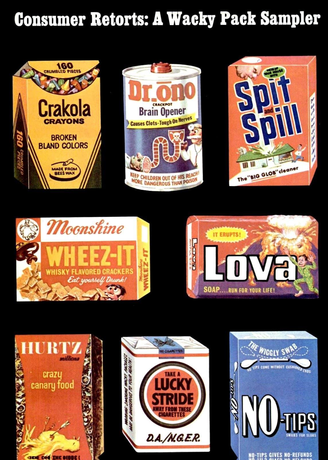 Vintage Wacky Packs - Packages in 1973 (2)