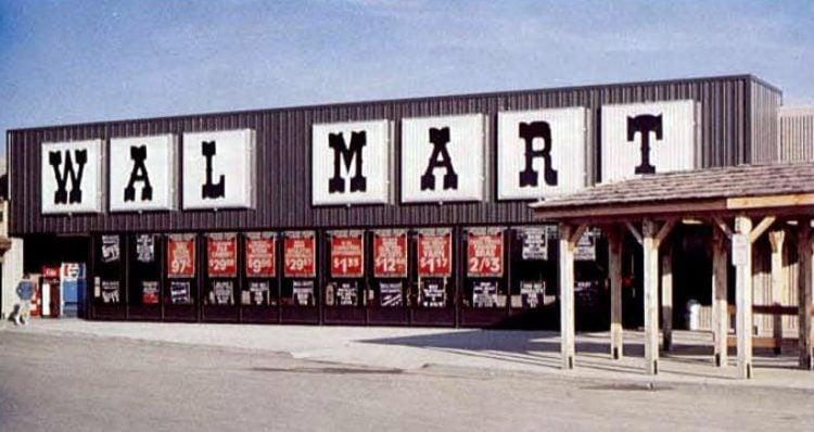Vintage Wal-Mart storefront in 1980