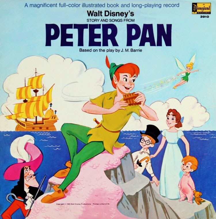 Vintage Walt Disney Peter Pan book and record from 1970