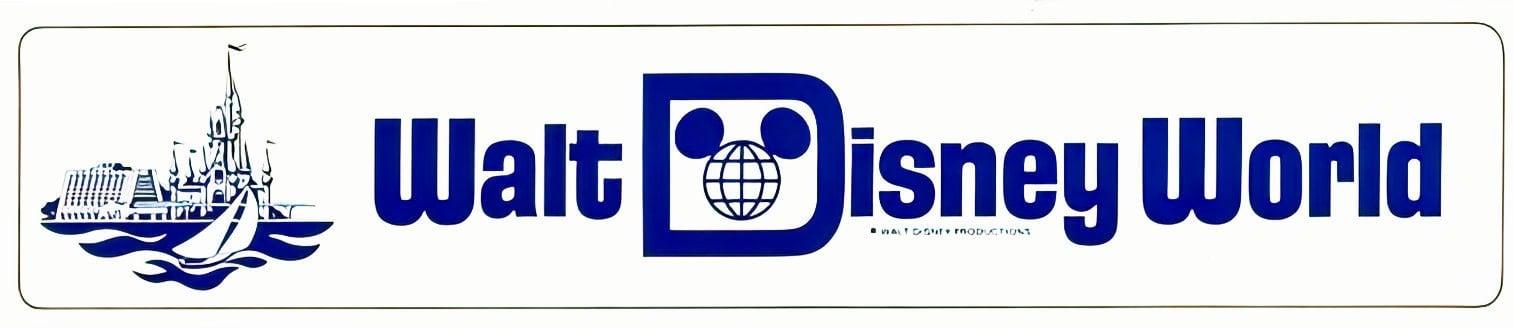 Vintage Walt Disney World bumper sticker