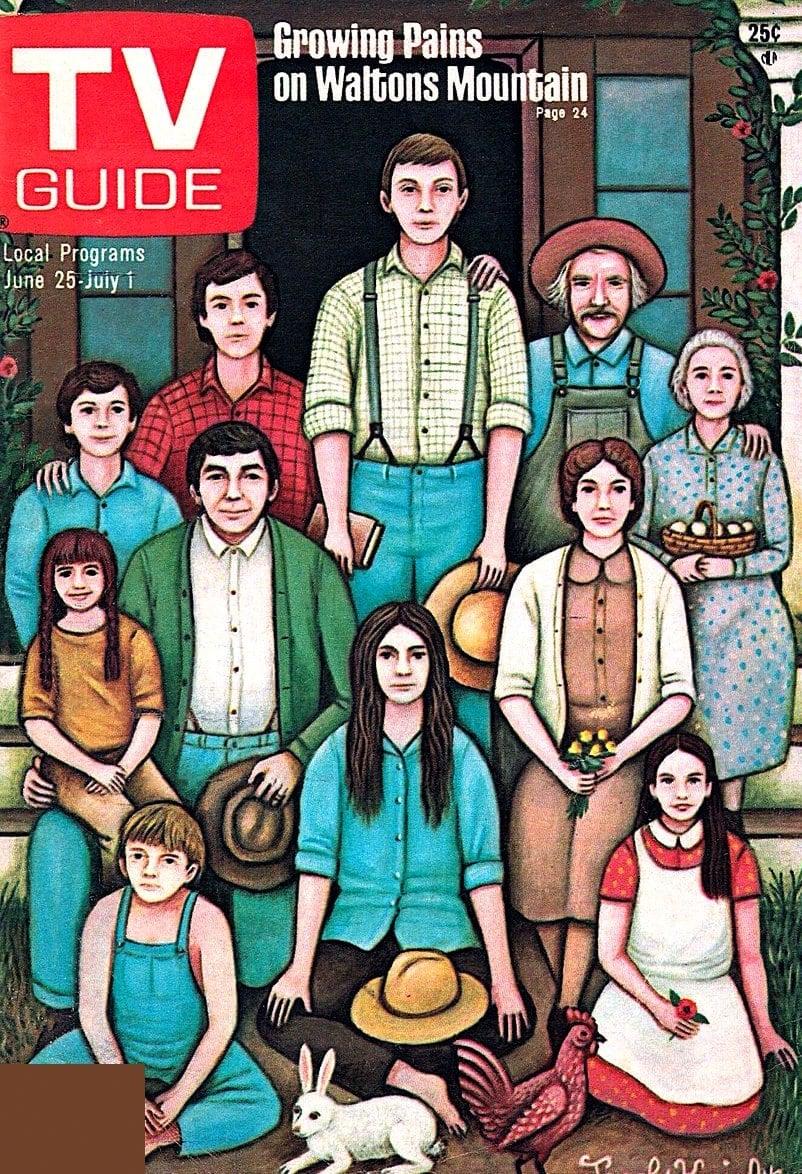 Vintage Waltons TV Guide cover