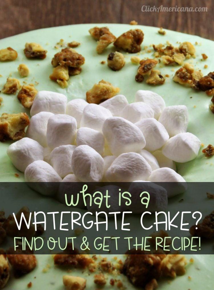 Vintage Watergate Cake recipe