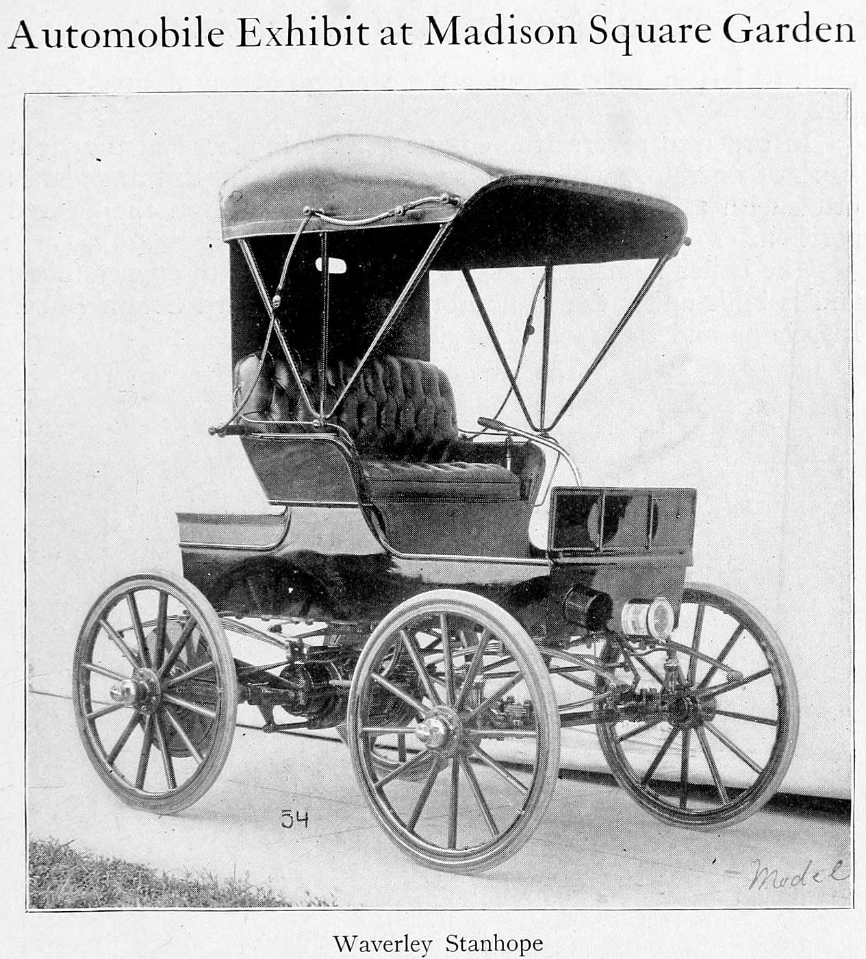 Vintage Waverly Stanhope motor car (1900)