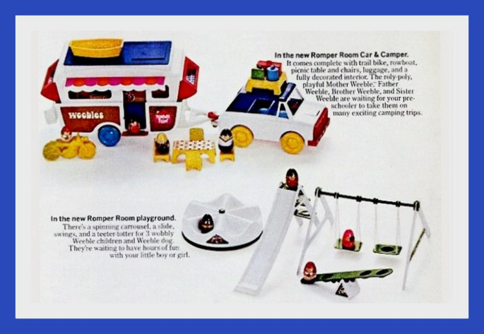 Vintage Weebles ad - our little people would like to play with your little people 1972