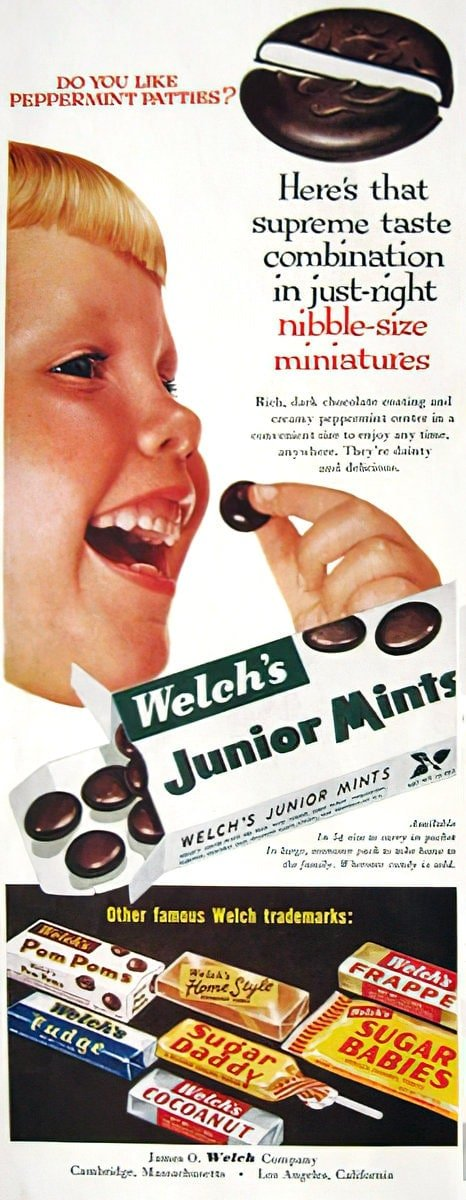 Vintage Welch's candies from 1955