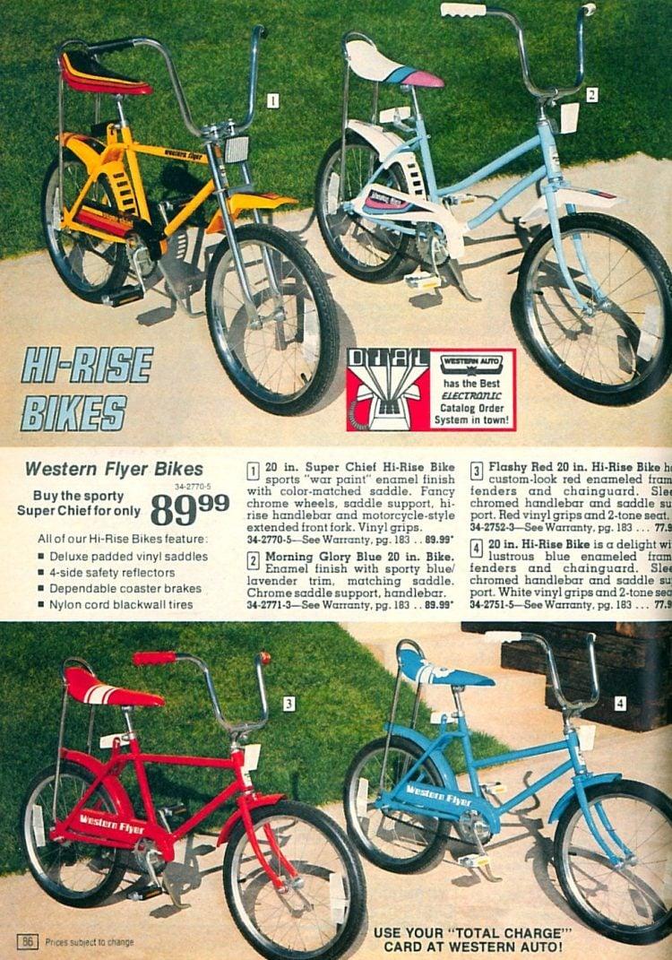 Vintage Western Flyer Hi-Rise bikes for kids
