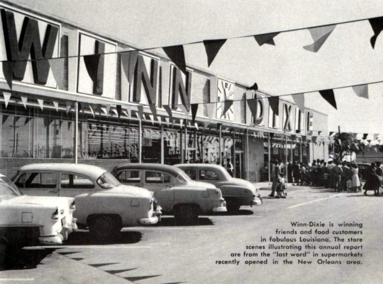 Vintage Winn Dixie supermarkets in the late 1950s (2)