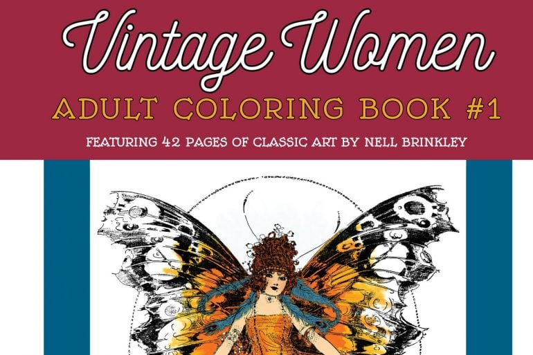 Vintage Women Coloring Book 1 Art by Nell Brinkley