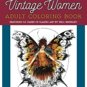 Vintage Women Coloring Book #1 Art by Nell Brinkley - cover