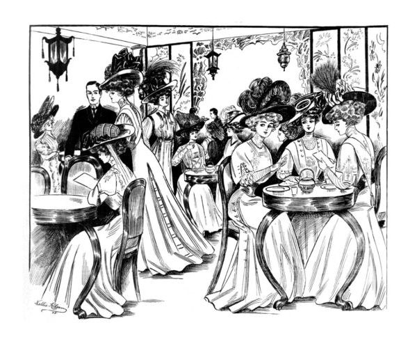 Vintage Women Coloring Book #2 Edwardian Fashion - Sample pages (1)