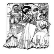 Vintage Women Coloring Book #2 Edwardian Fashion - Sample pages (2)