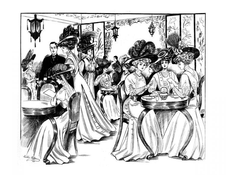 Vintage Women Coloring Book 2 Edwardian Fashion - Sample pages (2)