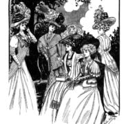Vintage Women Coloring Book #2 Edwardian Fashion - Sample pages (4)