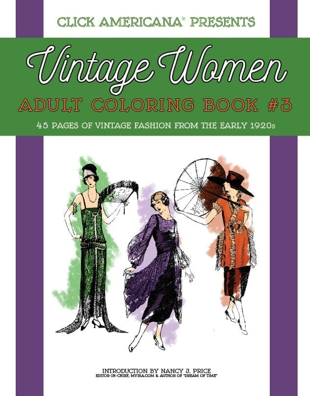 Vintage Women Coloring Book 3 Fashion from the Early 1920s