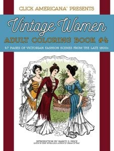 Vintage Women Coloring Book 4 Victorian Fashion Scenes from the Late 1800s