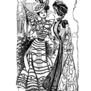 Vintage Women Coloring Book #4 Victorian Fashion Scenes from the Late 1800s (3)