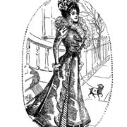Vintage Women Coloring Book #4 Victorian Fashion Scenes from the Late 1800s (4)