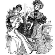 Vintage Women Coloring Book #4 Victorian Fashion Scenes from the Late 1800s (5)