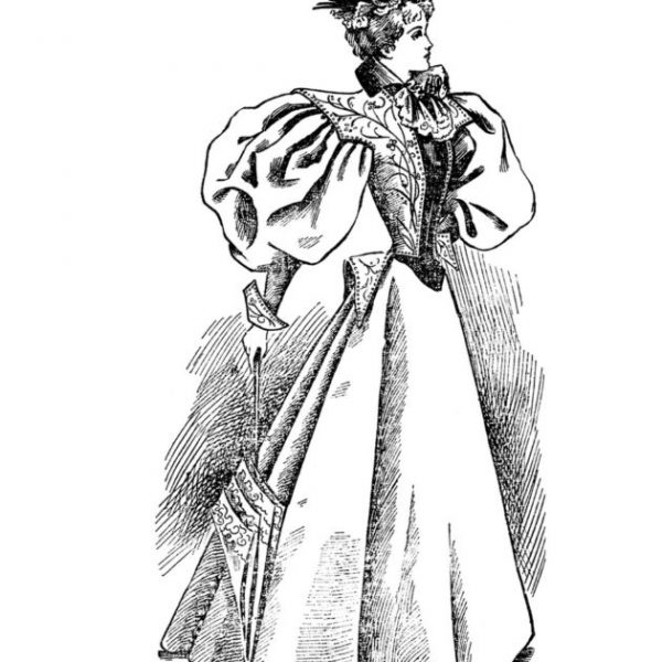 Vintage Women Coloring Book #5 Victorian Fashion Plates from the Late 1800s (1)
