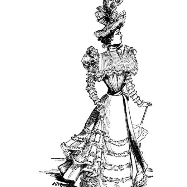 Vintage Women Coloring Book #5 Victorian Fashion Plates from the Late 1800s (4)