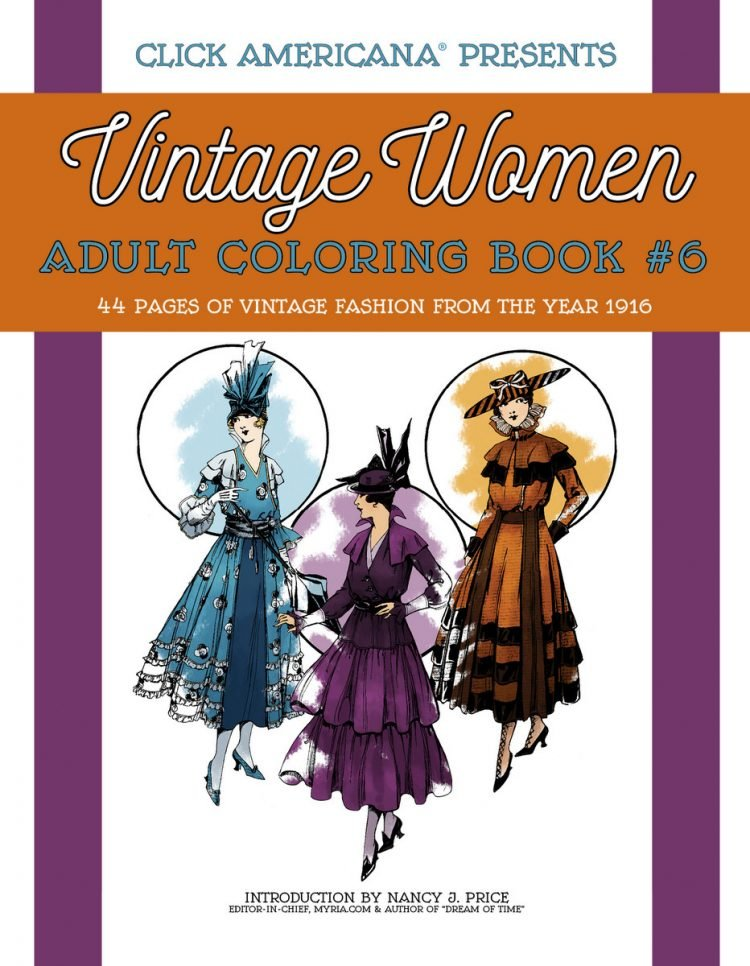 Vintage Women Coloring Book 6 Fashion from 1916
