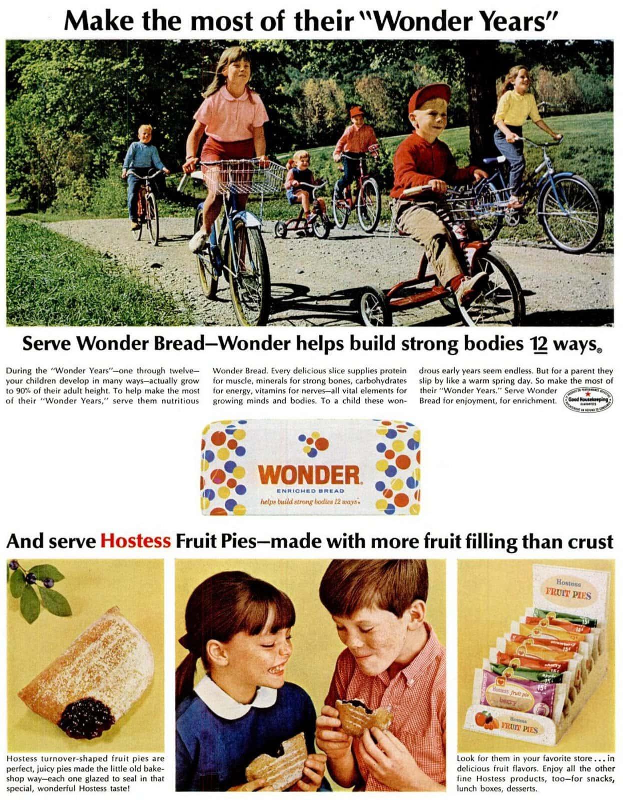 Vintage Wonder Bread and Hostess Fruit Pies (1966)