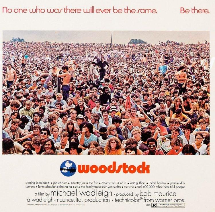 Vintage Woodstock movie poster