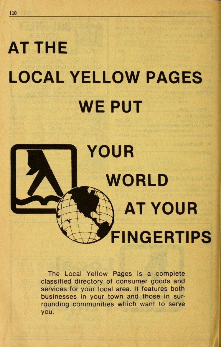 Vintage Yellow Pages phone directory from 1983 (1)