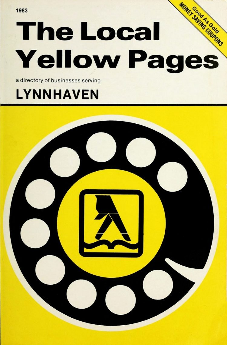 Vintage Yellow Pages phone directory from 1983 (2)
