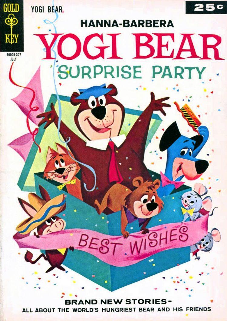 Vintage Yogi Bear surprise party book