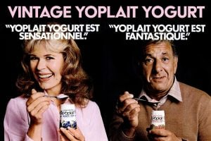 Vintage Yoplait yogurt - 1980s celebrities