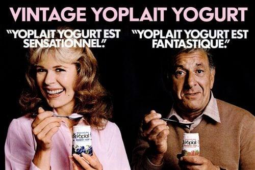 Vintage Yoplait yogurt - 1980s celebrities