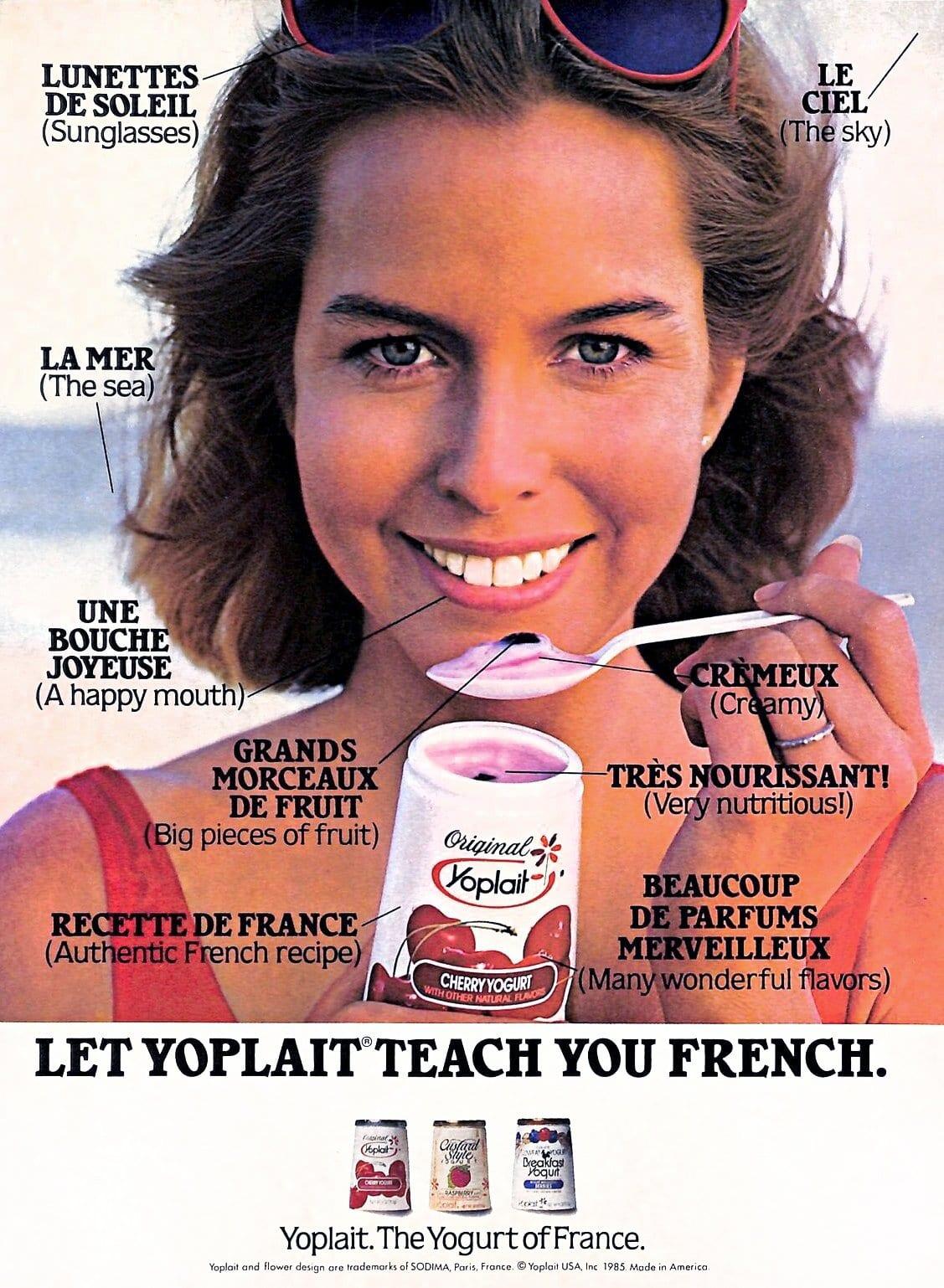 Vintage Yoplait yogurt ad (1985)