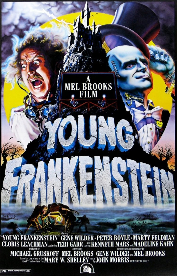 Vintage Young Frankenstein movie poster