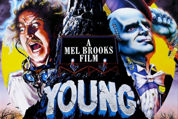 Vintage Young Frankenstein movie poster from the 1970s