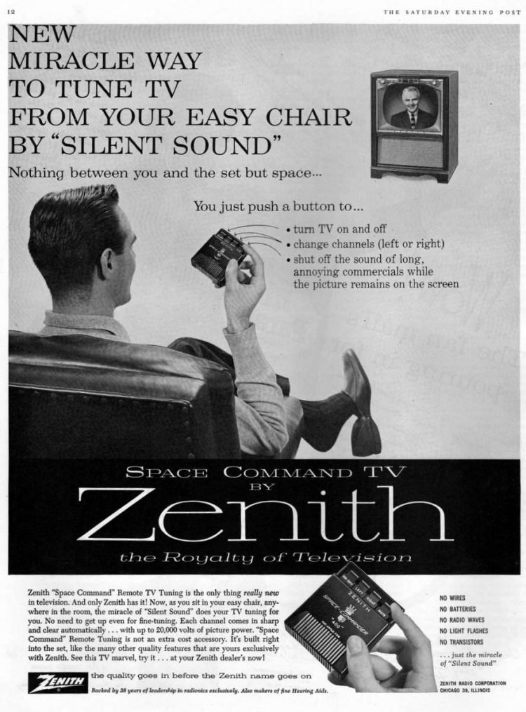 Vintage Zenith 'Space Command' TV remote control (1957)