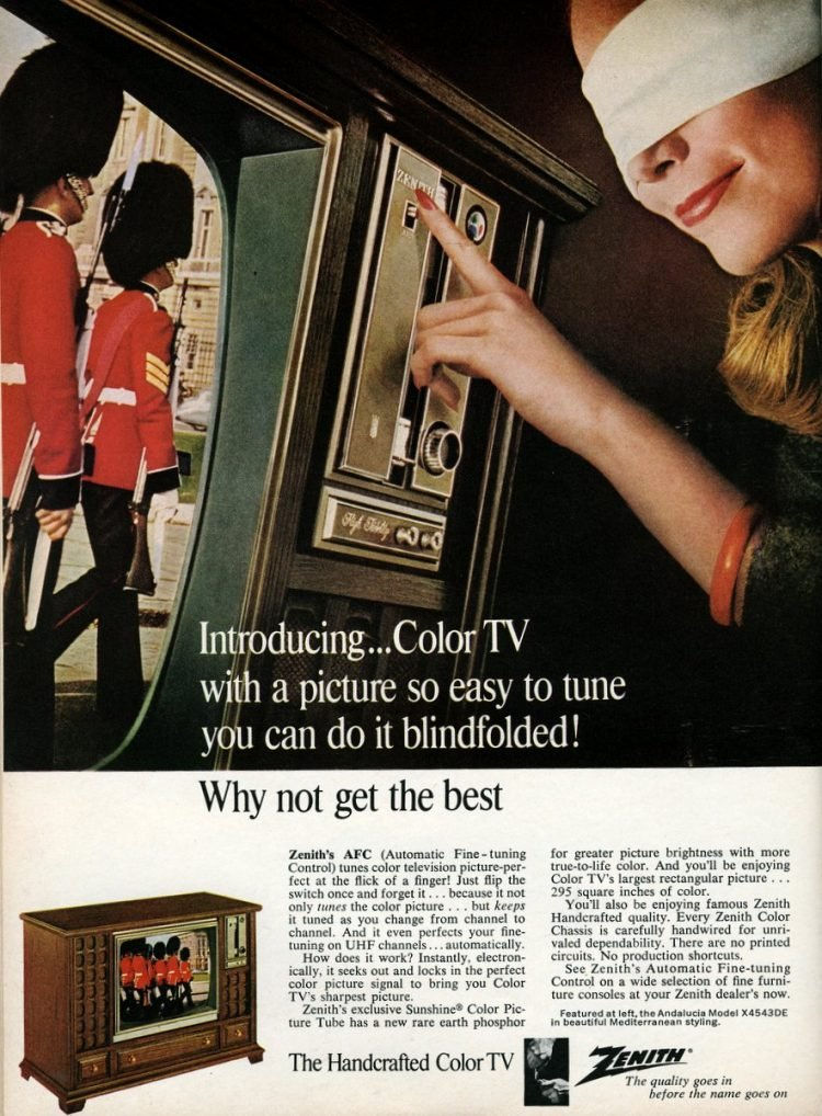 Vintage Zenith TV from 1967