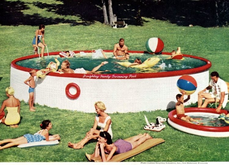 Vintage above-ground pool from Doughboy 1947