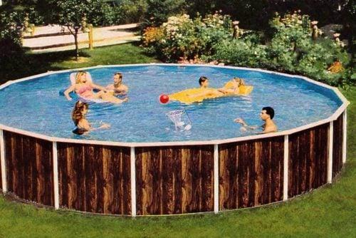 Vintage above-ground pools