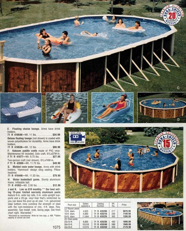 Vintage above-ground pools from the 1990s (1)
