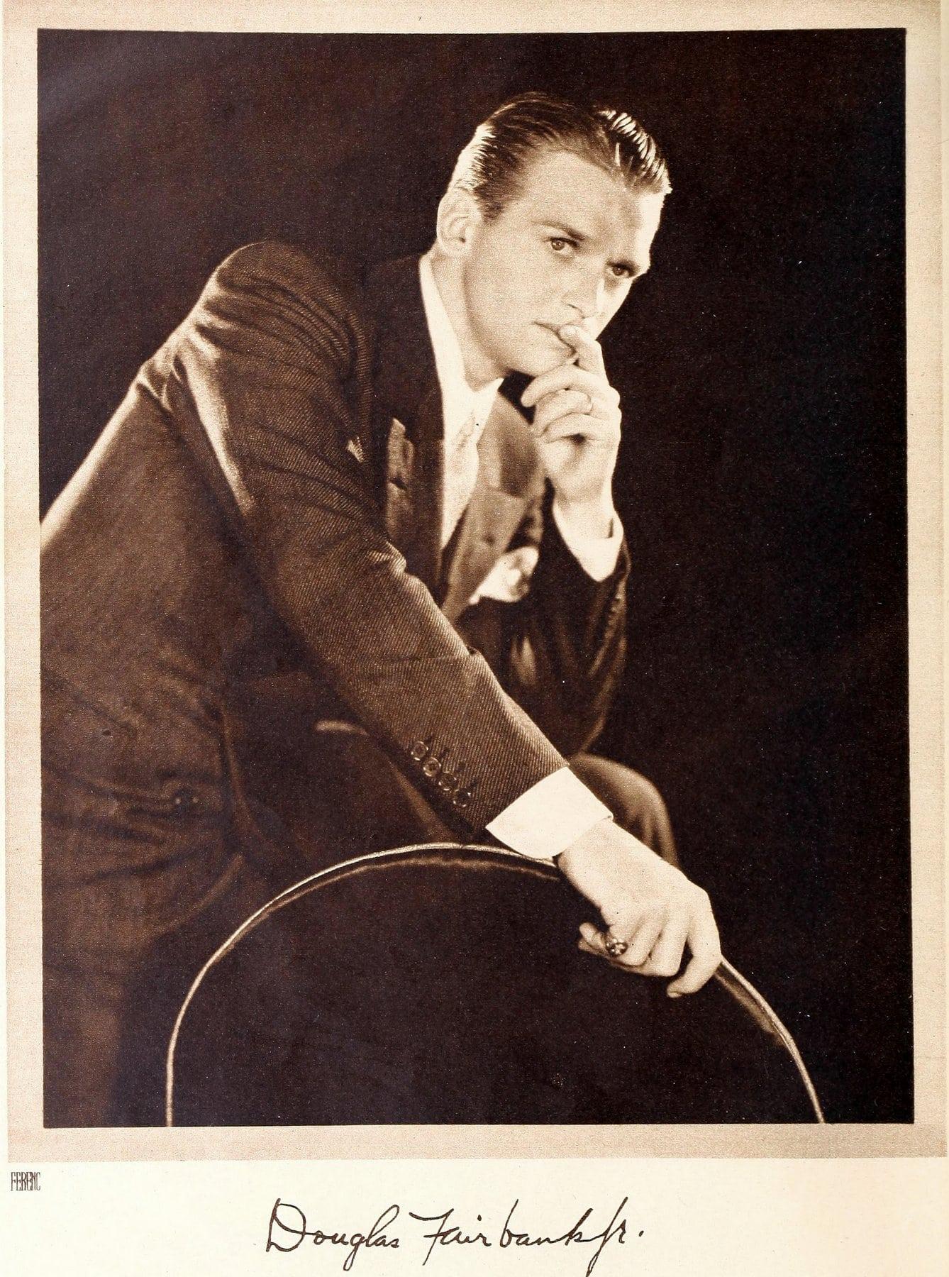 Vintage actor Douglas Fairbanks Jr in a 1930s suit
